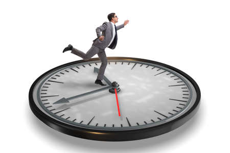 Businessman in time management concept Stock Photo