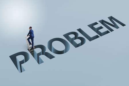 Businessman overcoming business financial problem