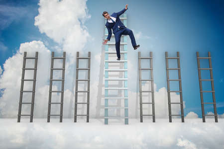 Employee being fired and falling from career ladder