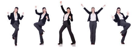 Young businesswoman in various poses