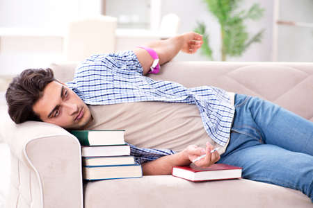 Young student suffeting from drug addiction Stock Photo - 97346496