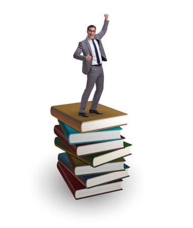 Businessman in executive education concept Foto de archivo