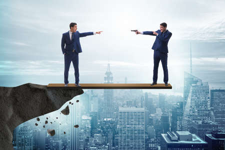 Partnership and teamwork concept with two businessmen Stock Photo - 99554316