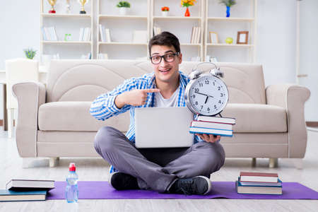Young student preparing for university exams Stock Photo