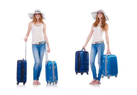 Woman planning to go on summer vacation