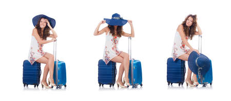 Woman preparing for travel on summer vacation