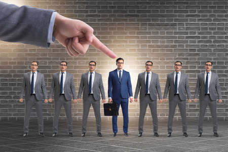 Recruitment and employment concept with selected employee Stock Photo