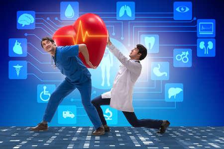 Man doctor in cardiology telemedicine concept Standard-Bild