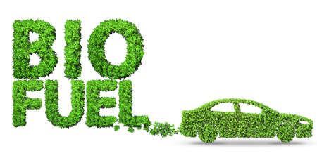 Voiture alimentée au biocarburant - rendu 3D