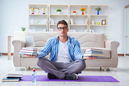 Young student preparing for university exams Stockfoto