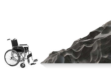 Accessibility concepth with wheelchair for disabled Banque d'images