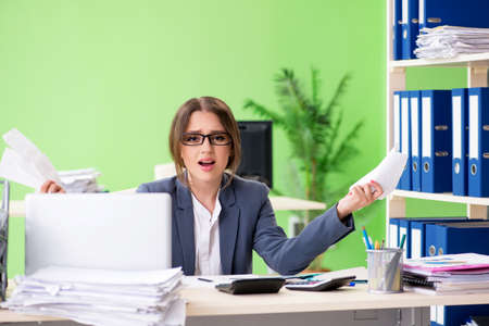 Female financial manager working in the office