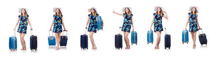Woman planning to go on summer vacation Stock Photo