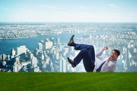 Happy businessman is excited from new business opportunity Stock Photo