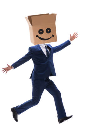 Excited happy businessman in happiness concept