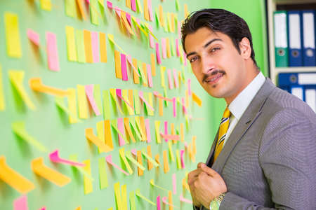Businessman with many business priorities