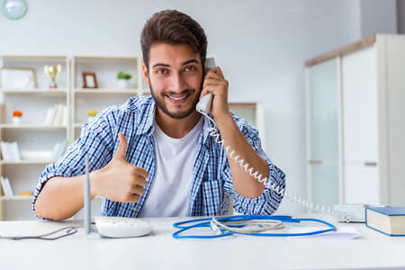 Man enjoying fast internet connection