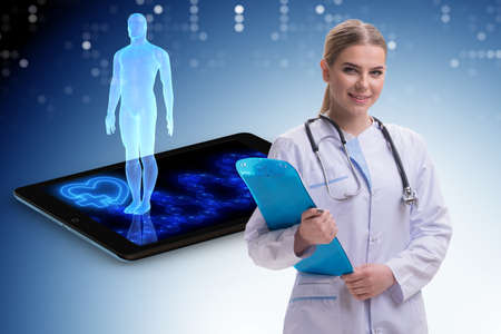 Woman doctor in telemedicine concept