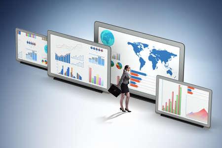 Koncepcja wykresów biznesowych i wizualizacji finansów Zdjęcie Seryjne
