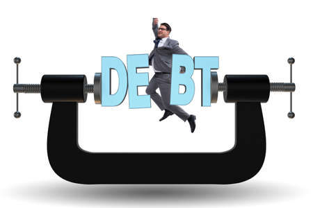 Business concept of debt and borrowing Imagens - 110235179