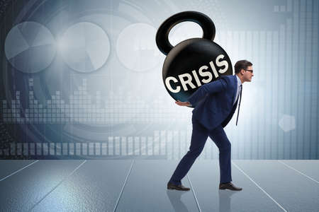Business concept of crisis and recession Stok Fotoğraf