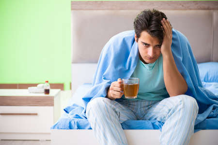 Man suffering from sleeping disorder and insomnia