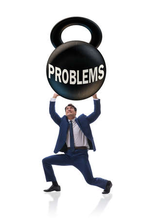 Business problem and challenge concept with businessman Imagens - 111486897