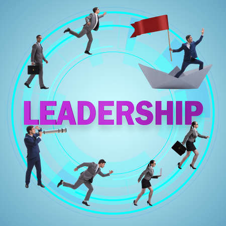 Concept of leadership with many business situations Stock Photo