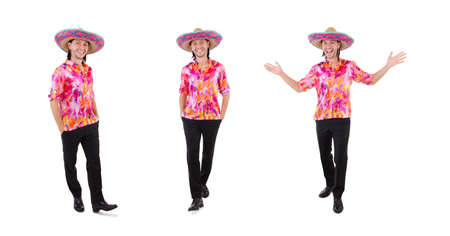 Funny mexican with sombrero hat 写真素材