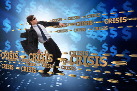 Business concept of crisis and recession Stock Photo
