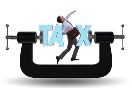 Business concept of tax payments burden Foto de archivo