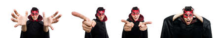 Funny devil isolated on the white background Stock Photo