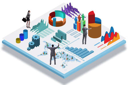 Biznesmen w koncepcji biznesowej infografiki Zdjęcie Seryjne