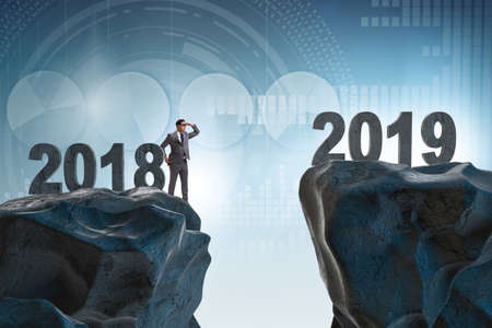 Businessman anticipating year of 2019