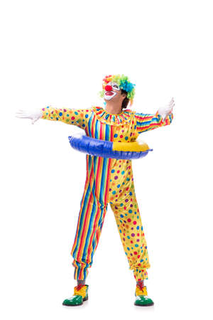 Funny clown isolated on white background