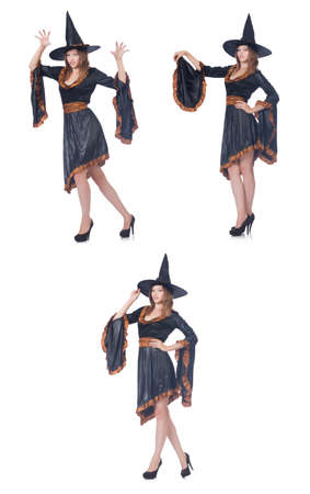 Witch isolated on the white background Stock Photo