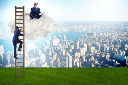 Concept de mentorat en affaires et progression de carrière Banque d'images