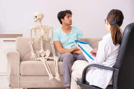 Young patient visiting psychologist for therapy
