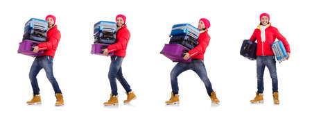 Man preparing for winter vacation Stock Photo