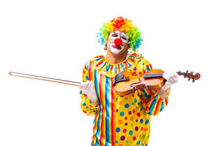 Male clown isolated on white Фото со стока - 115029875