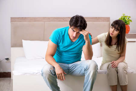 Young family having problems in relationships Stock Photo