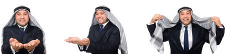 Arab businessman in suit isolated on white