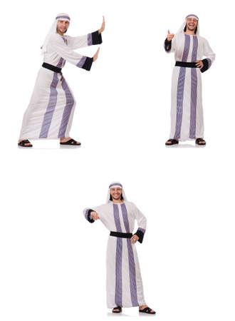 Male arab isolated on white background