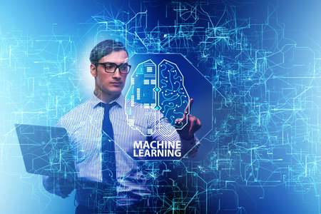 Machine learning concept as modern technology