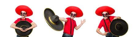 Funny mexican isolated on the white