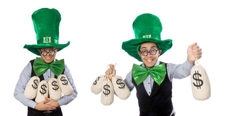 Funny man in saint patrick holiday concept Stock Photo