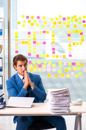 Busy businessman working in the office