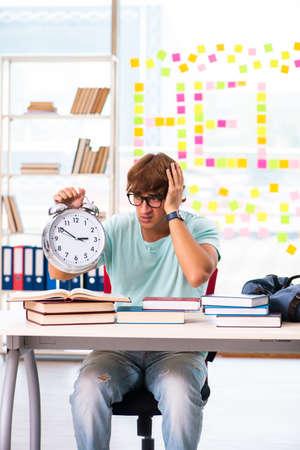 Student preparing for university exams Stockfoto