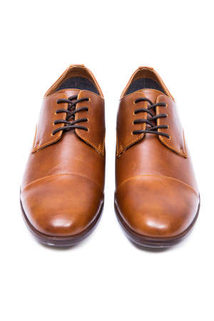 Brown shoes isolated on white background