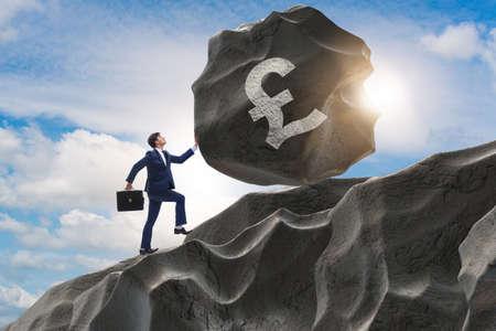 Trader trading in british pound